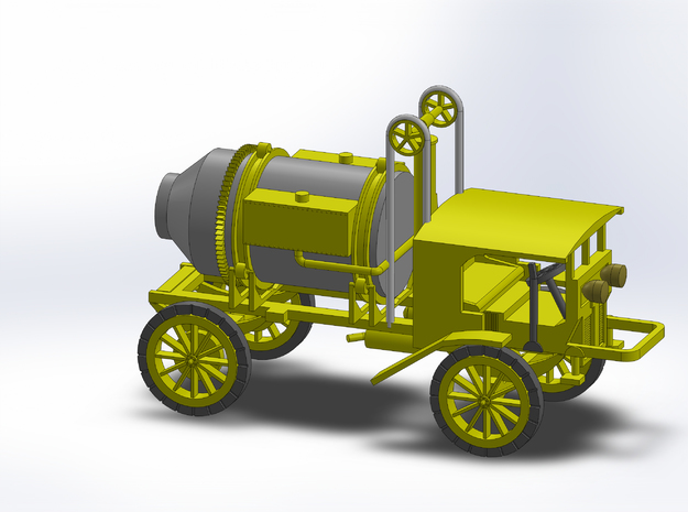 1921 AUTOCAR CEMENT TRUCK in Smooth Fine Detail Plastic