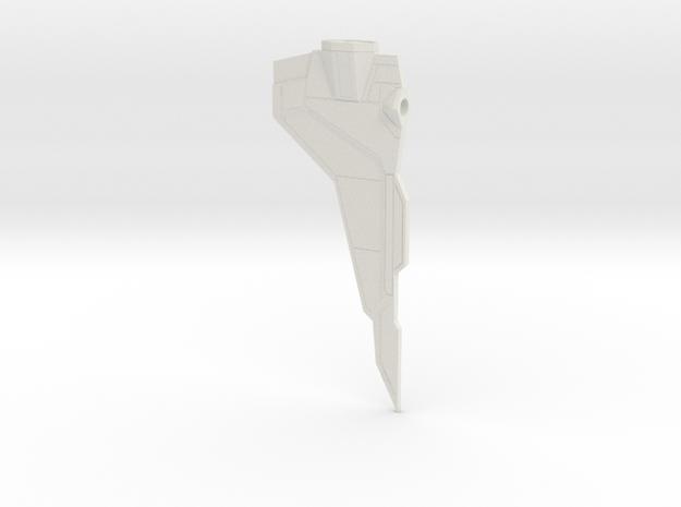 1/350 Star Wars Gauntlet Wing Left in White Natural Versatile Plastic