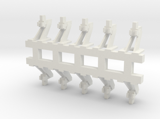 O Scale Hayes Wheel Stop in White Natural Versatile Plastic
