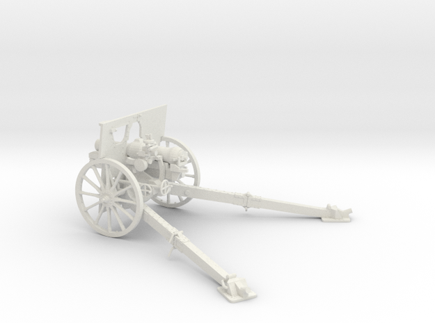 1/30 QF 3.7 inch mountain howitzer in White Natural Versatile Plastic