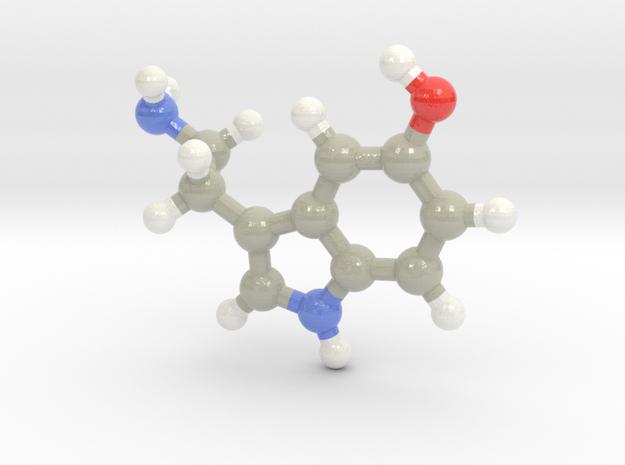 Serotonin (for Gary) in Glossy Full Color Sandstone