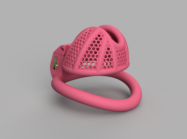 Cherry Keeper Total TouchStop - Short Wide in Pink Processed Versatile Plastic: Extra Small