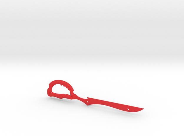 Scissor Blade in Red Processed Versatile Plastic