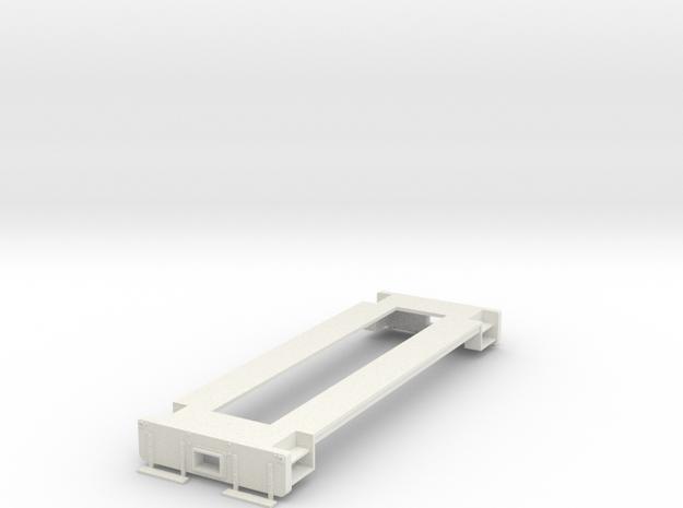 On30 Switcher conversion underframe in White Natural Versatile Plastic