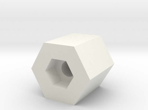 Axle Drilling Jig Part 2 4mm Scale in White Natural Versatile Plastic