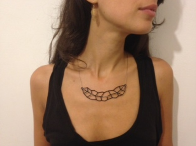 Leaf Necklace in Black Strong & Flexible
