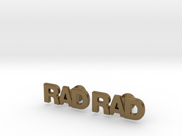 Monogram Cufflinks RAD 3d printed