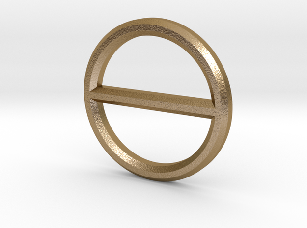 Circle Bar Pendant in Polished Gold Steel