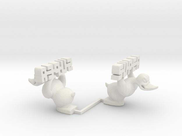 1/12 1/14 1/16 Rubber Duck figure for RC Trucks in White Natural Versatile Plastic