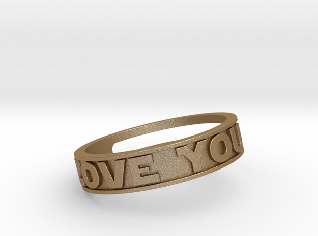 """I Love You""&""I know"" ring (med.sizes 16mm to 22m) 3d printed"
