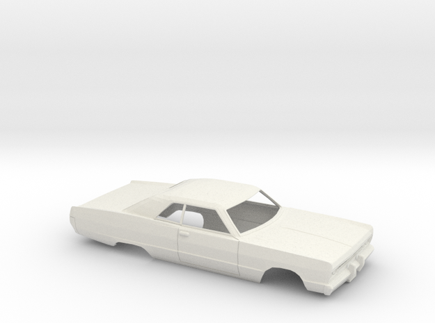 1/25 1969-70 Plymouth Fury Coupe Shell in White Natural Versatile Plastic