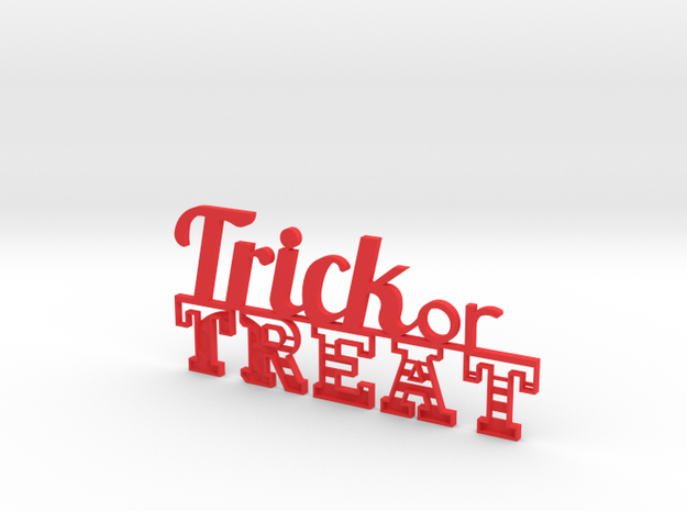 Trick or Treat Sign 3d printed