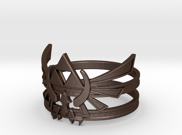 Triforce ring - Zelda - large sizes (23 to 27) 3d printed