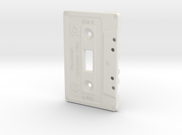 Cassette Light Switch Plate in White Natural Versatile Plastic
