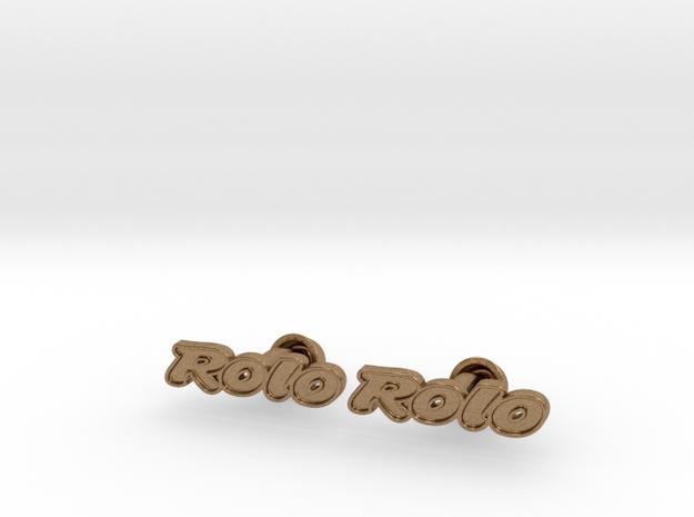 Rolo Cufflinks 3d printed
