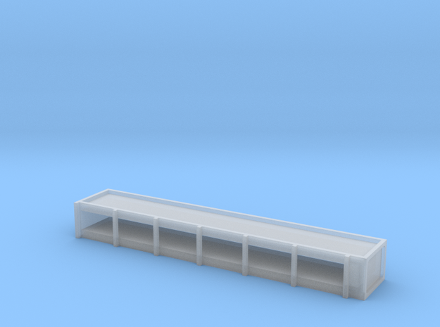 N Roof Advert Box in Smooth Fine Detail Plastic