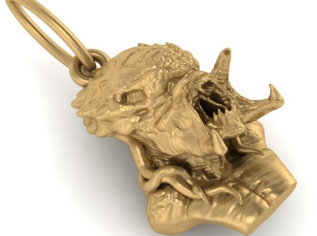 Predator alien pendant 3d printed Add a caption...