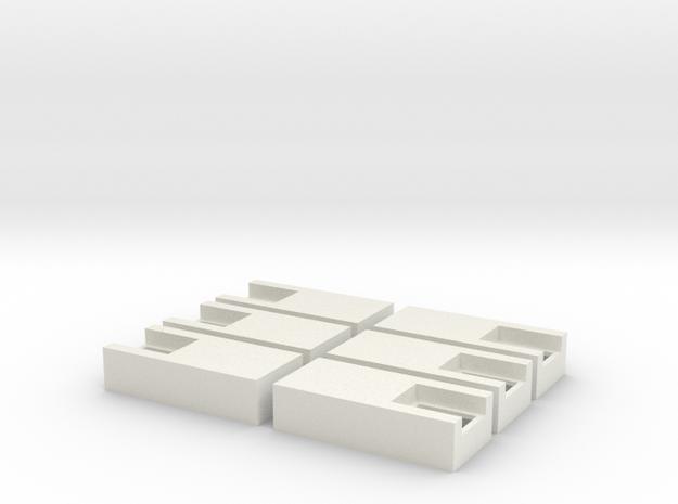 18mm x 40mm x 9mm Enclosure in White Natural Versatile Plastic