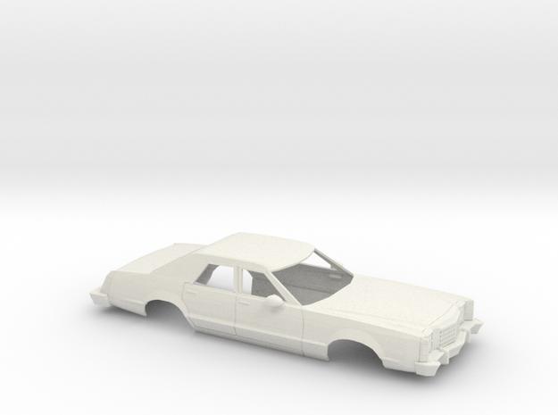 1/25 1977-79 Ford LTD II Sedan Shell in White Natural Versatile Plastic