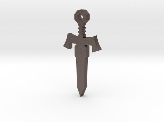 CommanderSword in Polished Bronzed-Silver Steel