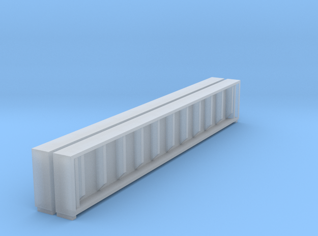 Plate Girder Bridge 40 Foot Sides Only N 1:160 in Smooth Fine Detail Plastic
