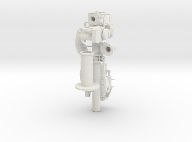 "fire extinguishing monitor ""Hermann Rudolf Meyer"" in White Natural Versatile Plastic: 1:25"