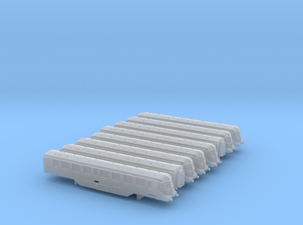 GWR Railcars -2 of each - T - 1:450 in Smooth Fine Detail Plastic