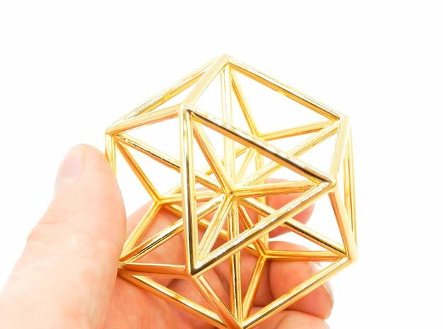 Vector Equilibrium - Meditation Tool in 18k Gold Plated Brass