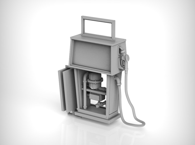 Gas Pump 01.1:35 Scale in Smooth Fine Detail Plastic