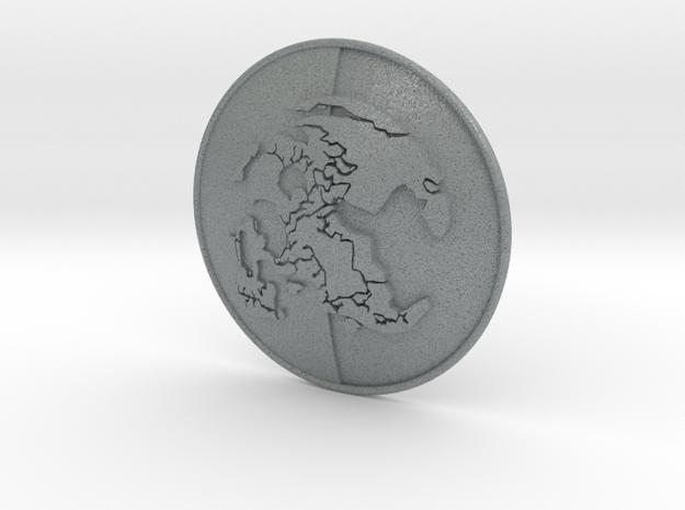 MSF badge in Polished Metallic Plastic