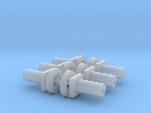 Bachmann N Scale - Chassis Fasteners & Washers x6 in Smooth Fine Detail Plastic