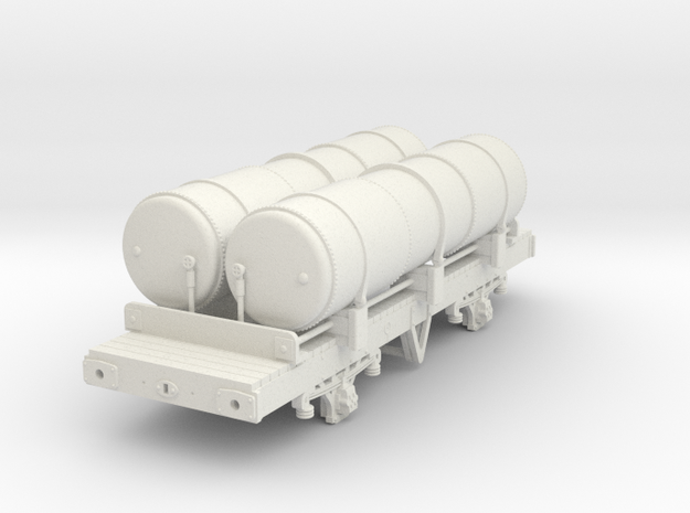 OO scale LBSCR Ex MET Gas Wagon in White Natural Versatile Plastic