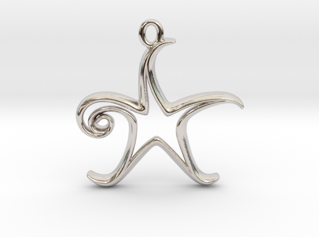 Tiny Star Charm in Rhodium Plated Brass