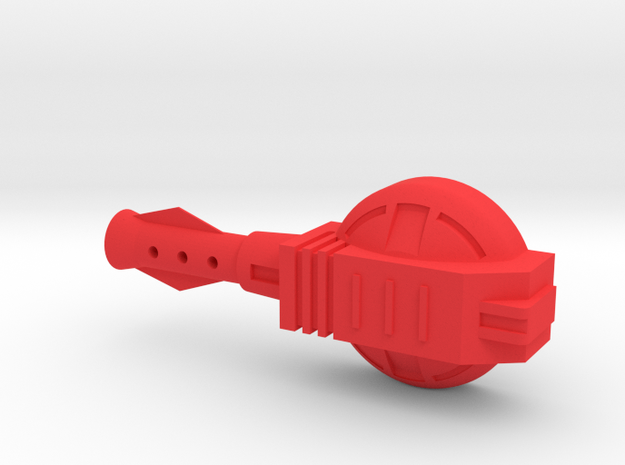 Starcom - Sky Roller - lateral laser cannon in Red Processed Versatile Plastic