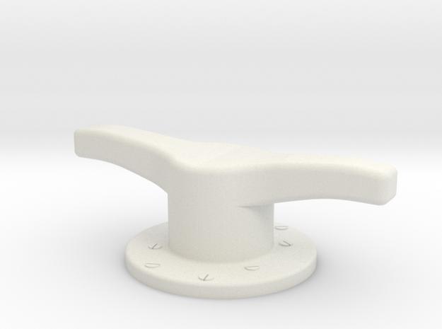 Elco Mooring Bitt in White Natural Versatile Plastic