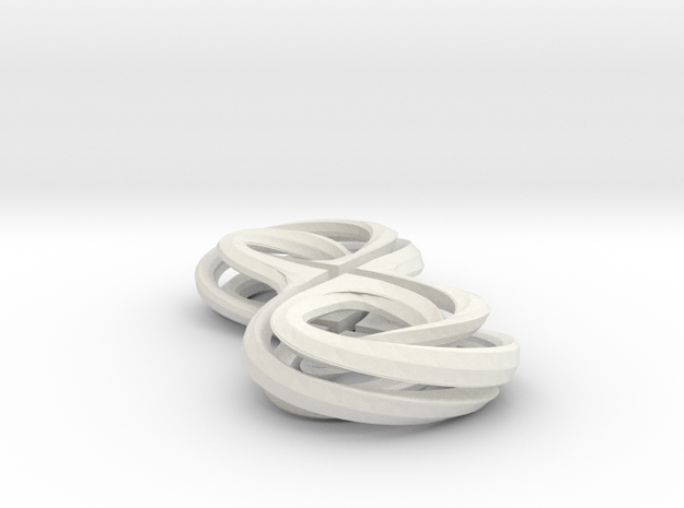 Bi Level Mobius in White Natural Versatile Plastic