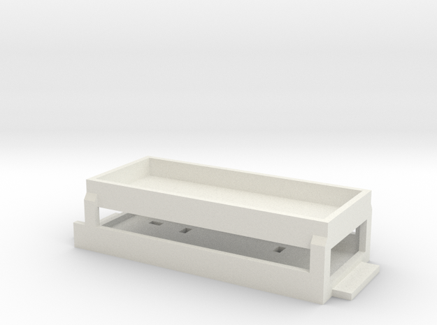 BlueRail Container Car Base in White Natural Versatile Plastic