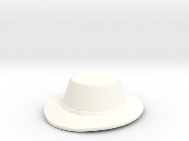 Landsknecht Hat in White Strong & Flexible Polished