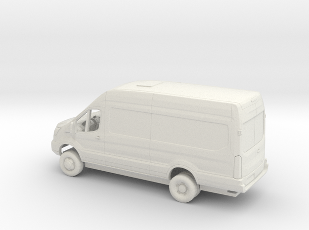 1/76 2018 Ford Transit High Delivery Extended Kit in White Natural Versatile Plastic