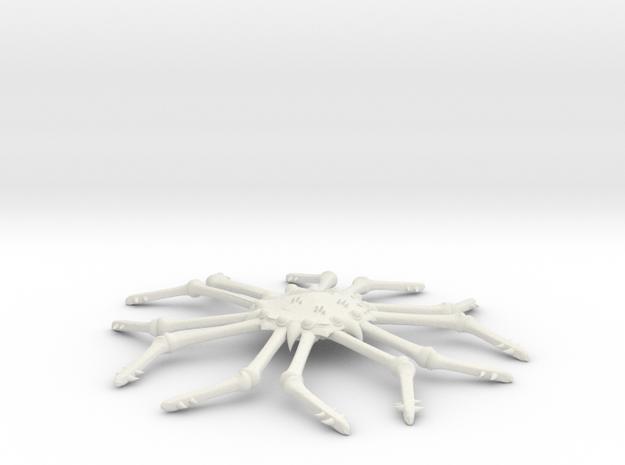 3788 Scale Monster Space Tarantula MGL in White Natural Versatile Plastic