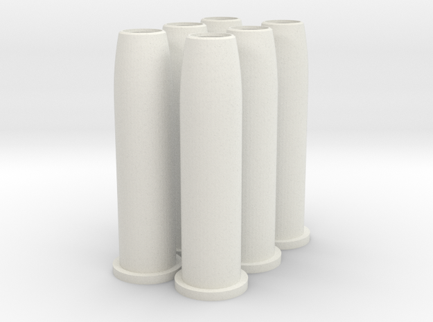 Airsoft Schofield revolver power down shells 6pack in White Natural Versatile Plastic