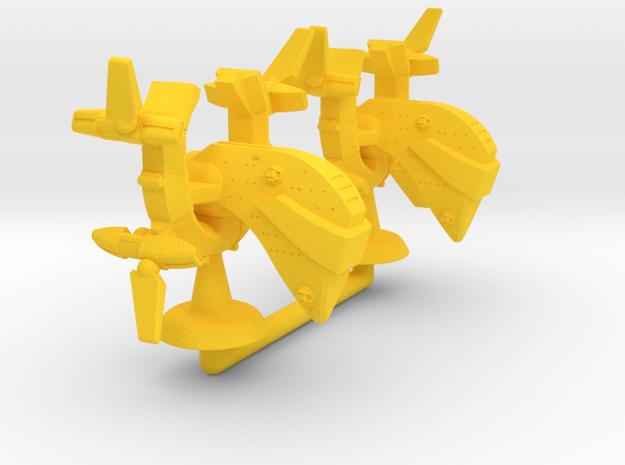 Gaho Class Lt Cruiser - 1:20000 in Yellow Processed Versatile Plastic