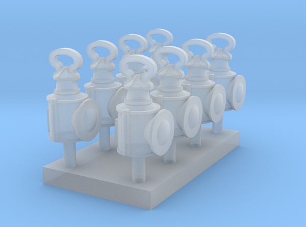 OO Scale LBSCR Lantern Pack in Smooth Fine Detail Plastic
