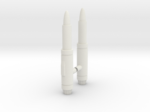 Earthrise Dirge weapons in White Natural Versatile Plastic