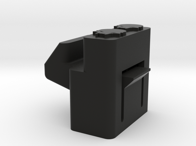 Deranged PTS Masada stock Button in Black Natural Versatile Plastic
