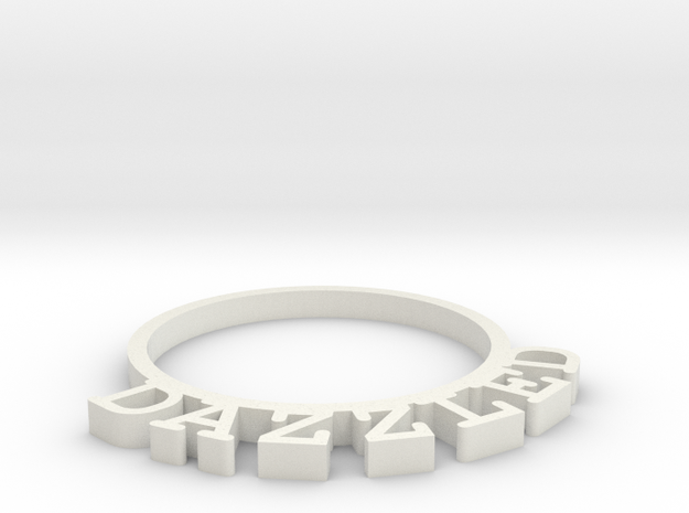 D&D Condition Ring, Dazzled in White Natural Versatile Plastic