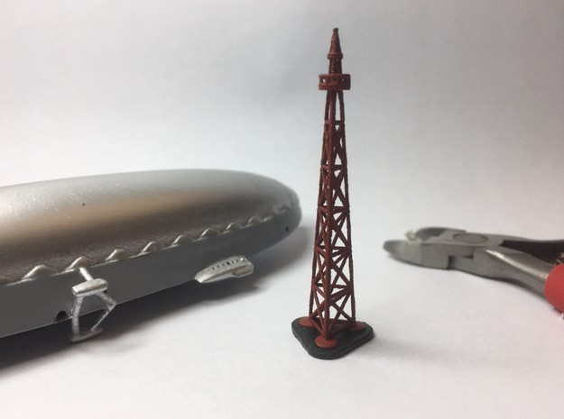 Polar Expedition Airship Mast 1/700th scale in Gray PA12