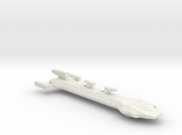 3788 Scale Borak Gunship CVN in White Natural Versatile Plastic