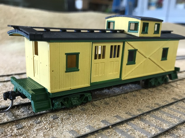 VIrginia & Truckee Caboose 24 in Smooth Fine Detail Plastic