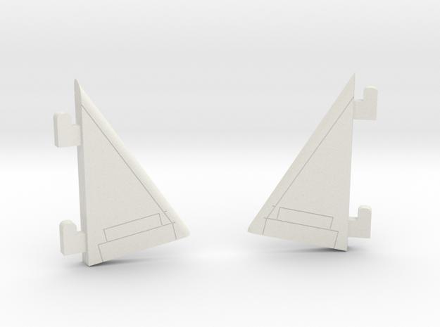 Starcom - Starhawk - right + left Fin in White Natural Versatile Plastic